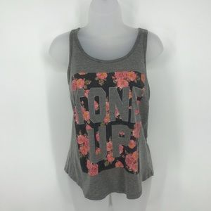 Chin-up Tone Up Floral Tank Top